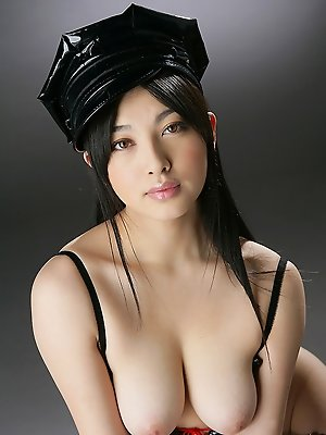 Saori Hara Asian is hot police woman with big jugs and hot butt