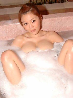 Yoko Matsugane Asian shows hot behind under very short skirt